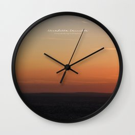 SUNSET OVER PARIS - Limited Edition Wall Clock