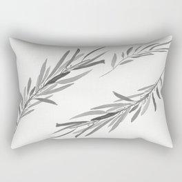 Eucalyptus leaves black and white Rectangular Pillow