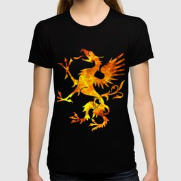 Dragon Fire Viking Symbol Blood Norse Vikings Gift T-shirt