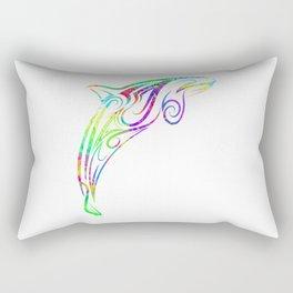 Orca Beluga in Colofrul Design Rectangular Pillow