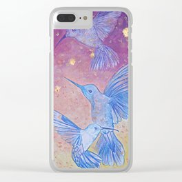 the sun descends into autumn's lullaby Clear iPhone Case