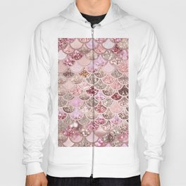 Rose Gold Blush Glitter Ombre Mermaid Scales Pattern Hoody