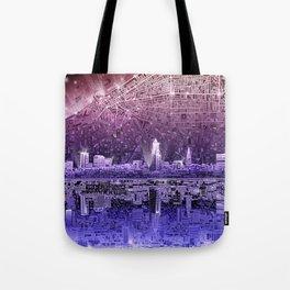 cleveland city skyline Tote Bag