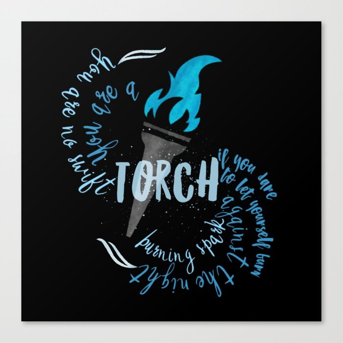 light the darness - a torch Canvas Print