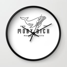 Moby Dick design | Herman Melville 1851 Whale product Wall Clock
