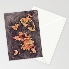 world map 68 Stationery Cards
