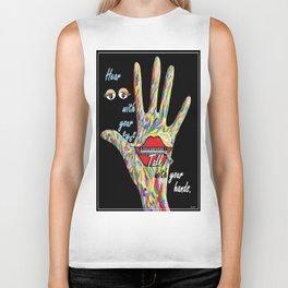 Hear With Your Eyes Biker Tank