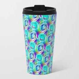 Peacock Marbles Travel Mug