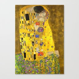 The Lovers Kiss After Klimt Canvas Print