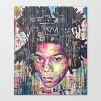 basquiat Canvas Prints featuring Basquiat by Makelismos