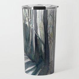 Winter Tree Path Travel Mug