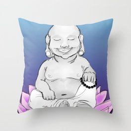 Chubby of Happiness Throw Pillow
