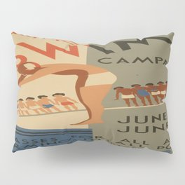 Vintage poster - Learn to swim Pillow Sham