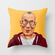 Hipstory -  Dalai Lama Throw Pillow
