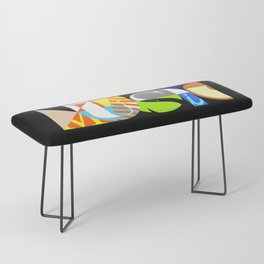 Music Typography Bench