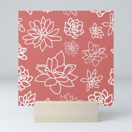 Succulents Pattern3 Mini Art Print