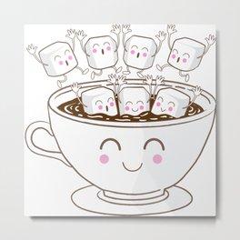 Marshmallow fun! Metal Print