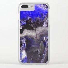 Purple Blue Lightning Clear iPhone Case