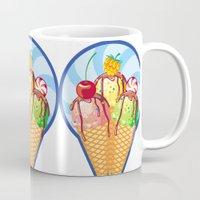 ice cream Mugs featuring Ice cream by LaDa