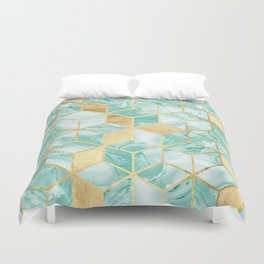 Gold and crystal mosaic Duvet Cover