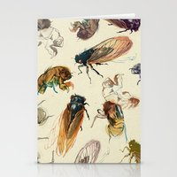 bug Stationery Cards featuring summer cicadas by Teagan White