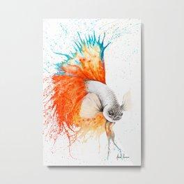 Orange Splice Gourami Metal Print