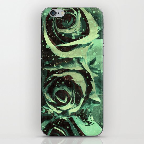 Turquoise Roses iPhone & iPod Skin
