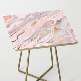 Marble and Gold 005 Side Table