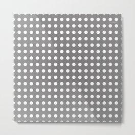 Grey dotted mood Metal Print