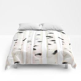 birch  watercolor Comforters