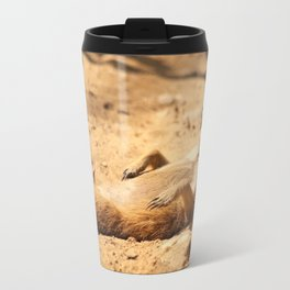 Meerkat Suricat suricatta Sunbathing #decor #society6 Travel Mug