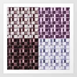 Wine -Cuadricula Art Print