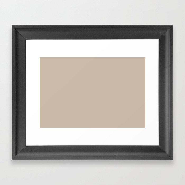 Sherwin Williams Trending Colors of 2019 Dhurrie Beige SW 7524 Solid Color Gerahmter Kunstdruck
