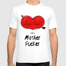 love huh? Mens Fitted Tee White SMALL
