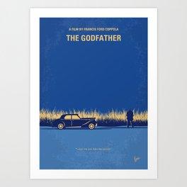 No686-1 My Godfather I minimal movie poster Art Print