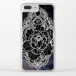 Ohm Peony Clear iPhone Case