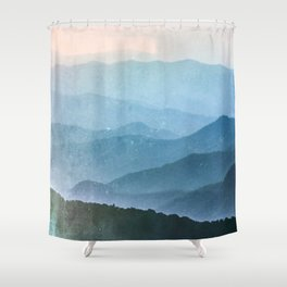 Great Smoky Mountain National Park Sunset Layers - Nature Photography Shower Curtain