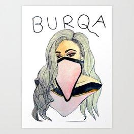 'BURQA' Art Print