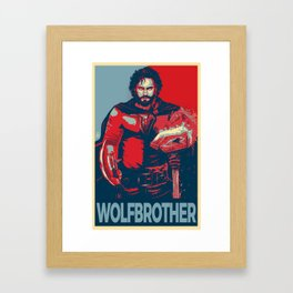 Elect the Wolfbrother Framed Art Print