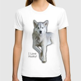 I love Husky T-shirt