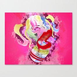 XSuperModels Crazy Lil' Pill Monster Bubble Gum Canvas Print