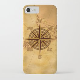 Antique Style Compass Rose iPhone Case