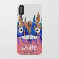 hayao miyazaki iPhone & iPod Cases featuring Poster Toto ro (Miyazaki) by Mariano F. Hernandez