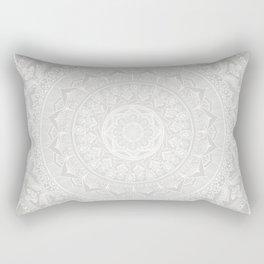 Mandala Soft Gray Rectangular Pillow