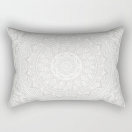 Mandala Soft Gray Rectangular Pillow