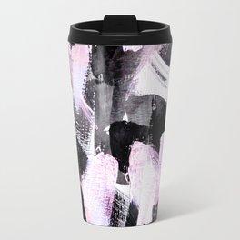 light pink and black abstract painting Travel Mug