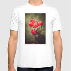 Red tulips  Mens Fitted Tee White MEDIUM