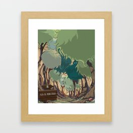 Isla de Monstruos Framed Art Print