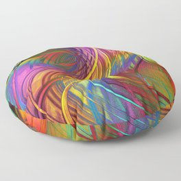 Color  Strings in the Wind Floor Pillow