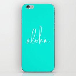 Aloha Tropical Turquoise iPhone Skin
